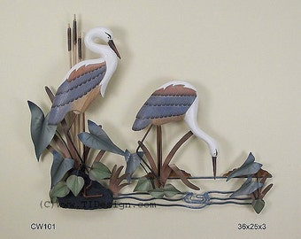 Heron Pair Wall Sculpture - CW101