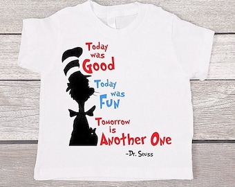 Dr Seuss Shirt / Cat in the Hat Shirt / Toddler Baby Infant T-Shirt / Kids Graphic Tee / Trendy Swag