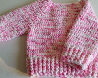 Crocheted handmade baby toddler jumper