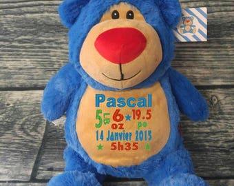 Teddy / Teddy bear birth personalised bear stuffie. birth gift. personalized gift. baby shower
