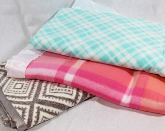 BABY Blankets-Ultra soft Fleece with Satin Trim-Crib Size-Choice of style-Baby Boggsies original