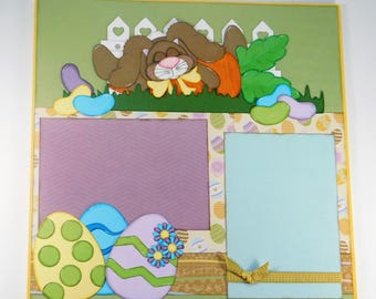 Sleeping Bunny Scrapbook Layout