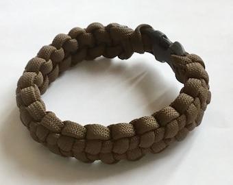 Stitched solomon Paracord bracelet/ camo survival bracelet