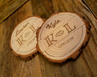 Personalized Coasters: Wedding/Anniversary - Set of 2