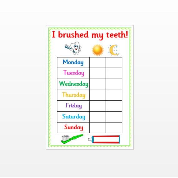 Célèbre Brossage des dents récompense graphique réutilisable laminé GF33