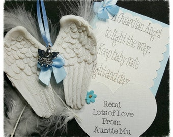 Guardian Angel Wings Ornament Gift Set