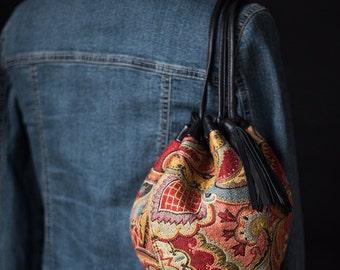 Drawstring bucket bag, shoulder bag, handbag, purse, bubble bag