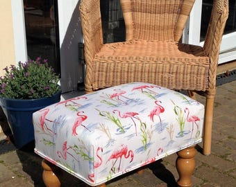 Gorgeous Pink Flamingo Footstool