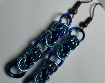 Earrings Blue Byzantine