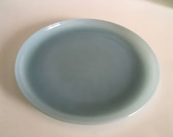 HTF Fire King Turquoise Blue 9 Inch Plate