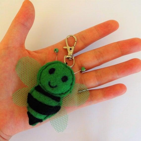 Forest Honeybee Keychain