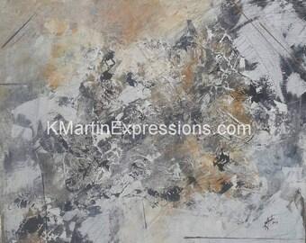 Peaks, Acrylic Painting Print, Abstract Art, Modern Art, Abstract Art