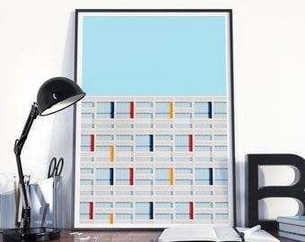 Poster graphic design poster architecture illustration Le Corbusier S04