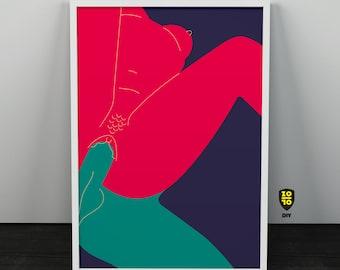 Date II Passion Love Relationship Digital illustration by Alexander Fechner
