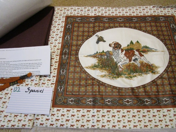 Spaniel - Dog - Pillow Quilt Kit