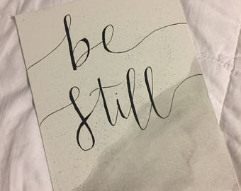 Be Still Watercolor Canvas