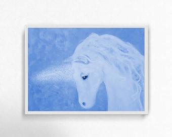 Unicorn Print, Unicorn Painting, Unicorn Art, Unicorn Decor, Unicorn Gift, Unicorn Wall Art, Unicorn Home Decor, Unicorn Poster, Fantasy Art