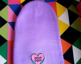 Nasty Gal's Drop Dead Beanie - Purple