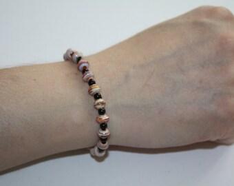 Paper Beads Bracelet sunrise #197