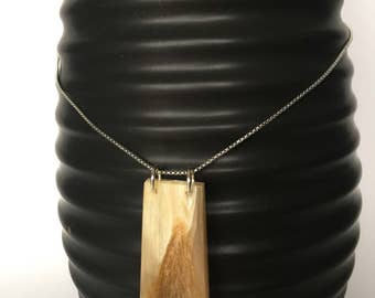 Authentic Bighorn Sheep Horn Necklace Pendant