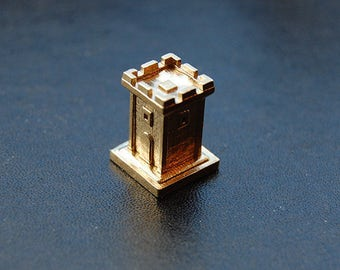 Tiny Tower - 3D Printed Brass Tower