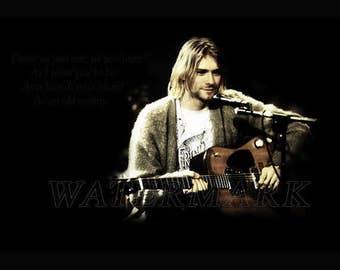Nirvana, Nirvana Concert Poster, Nirvana Art, Nirvana Poster, Nirvana Print, Kurt Cobain, Kurt Cobain Wall Art, 8x10, 11x14, 16x20 (JS00890)