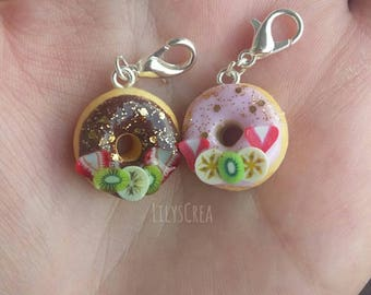 Donuts with fruit in polymer clay