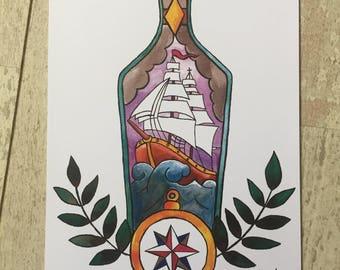 Print bottle Illustration