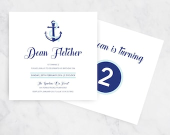 Nautical Birthday Invitation | Printable | Boys Invites