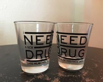New Drug Shot Glass (Set of 2)