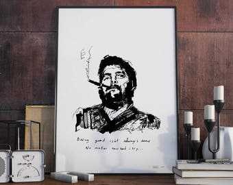 Fidel Castro, screenprint edition Studio EDEN. Series limited, numbered and signed by the artist YAIRS