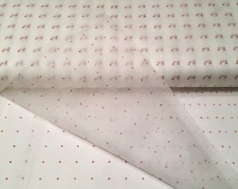 Red Dot, Two Yards, Pattern Tracing Cloth