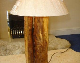 Bespoke solid oak table lamp