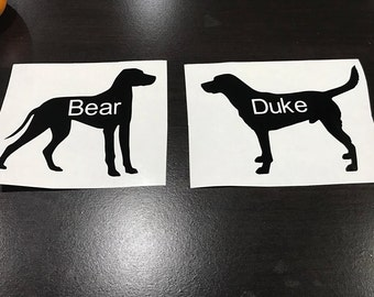 Dog Car Decals With Names on Body