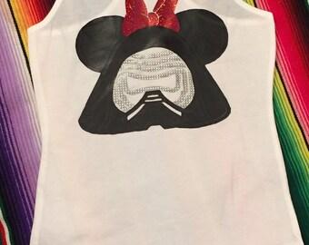 Star Wars -Custom Kylo Ren  shirt - Star Wars Shirt- Disney Shirt- Add a name for FREE