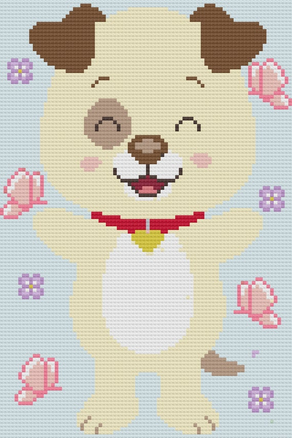 Puppy Dog C2c Crochet Afghan Blanket Pattern From