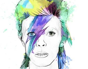 David Bowie // Portrait Art Print