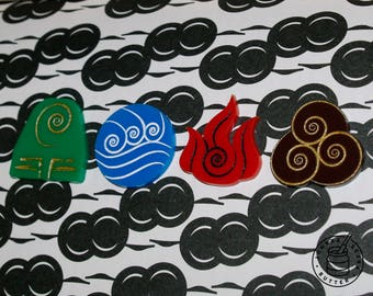 Avatar: The Last Airbender - Element Bending Symbol, pin badges  (The Legend of Aang)