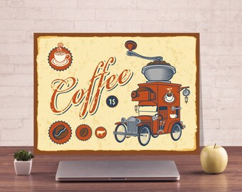 Coffee, Funny sign, Metal name sign, Warning Sign, Publicity signage, Metal Sign, Digital Prints, Business sign, Decor cafe, Coffee plate