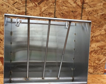 Stainless Steel sheep and goat hay and grain feeder