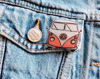 Hippie VW Bus Pin