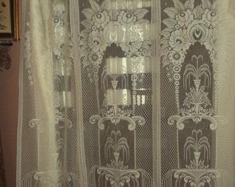 Vintage German Lace Panel