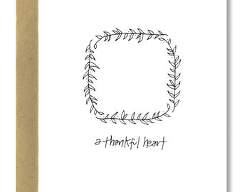 A Thankful Heart / Olive Branch - A2 Card (Single or Set of 5)