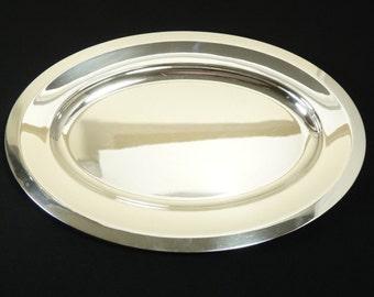 CHRISTOFLE Silver Plate - Modernist Tray / Salver