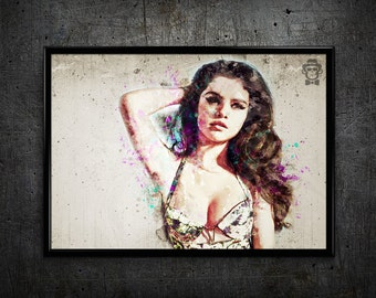 Selena Gomez print Selena Gomez art print wall art home decor