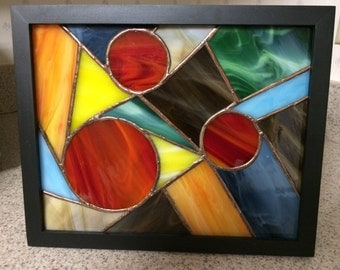 Stained Glass, Abstract, Framed