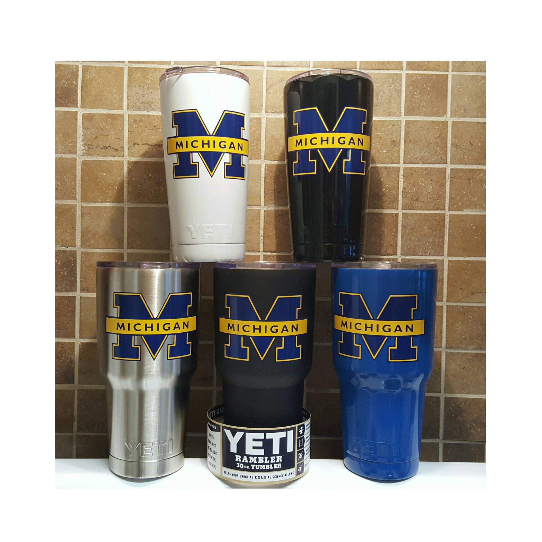 University of michigan christmas ornaments - Yeti Authentic University Of Michigan Wolverines Yeti Cup Mug 20 Oz 30 Oz Custom Student