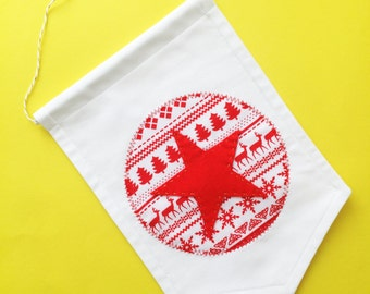 Traditional Christmas Make-Your-Own Fabric Banner Craft Kit from Create! Craft Kits