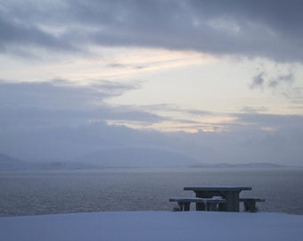 Art photography landscape in iceland lake in winter