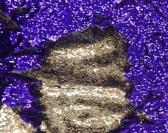 """Mermaid sequins 5mm flip up sequins stretch base reversible sequins 58/60""""sold by the yd. Ships worldwide from Los Angeles California USA"""